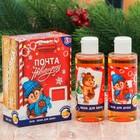 """Детский подарочный набор """"Новогодняя почта"""": гель для душа и пена для ванны с ароматом апельсина"""