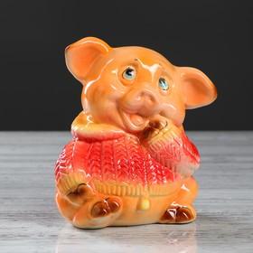 """Копилка """"Свинка Борька"""", глазурь, разноцветная, 17 см, микс"""
