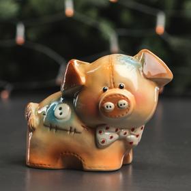"""Копилка """"Свинка Ласкуток"""", глазурь, разноцветная, 13 см, микс"""
