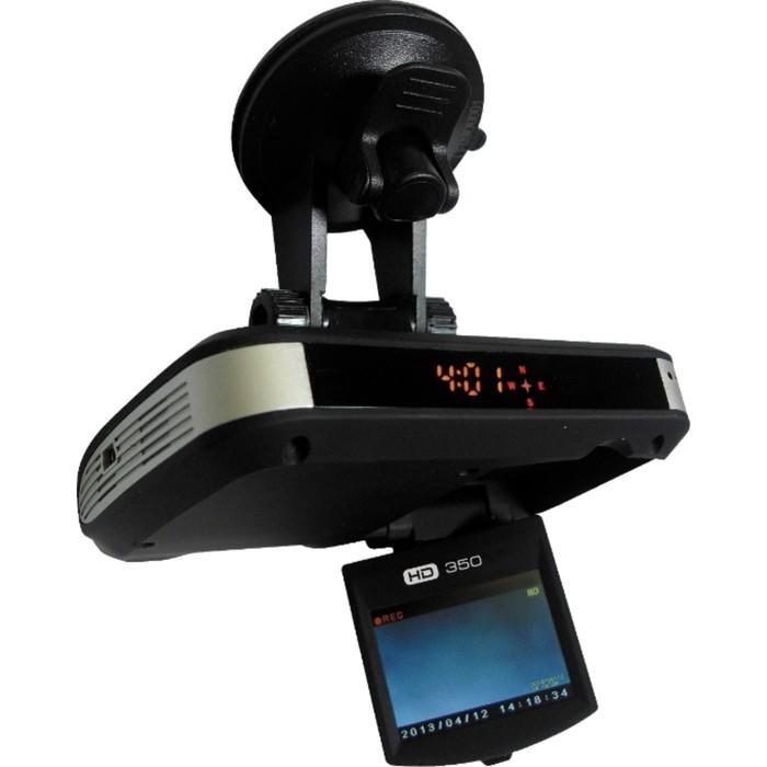 "Видеорегистратор + радар-детектор HDC HD350, 2"", обзор 120º, 1280х720"