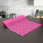 """Коврик противоскользящий сервировочный """"Одуванчики"""" 30х150 см, цвет розовый"""