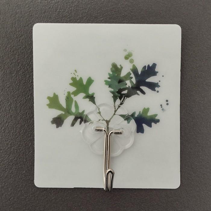 Крючок-наклейка «Растения», рисунок МИКС