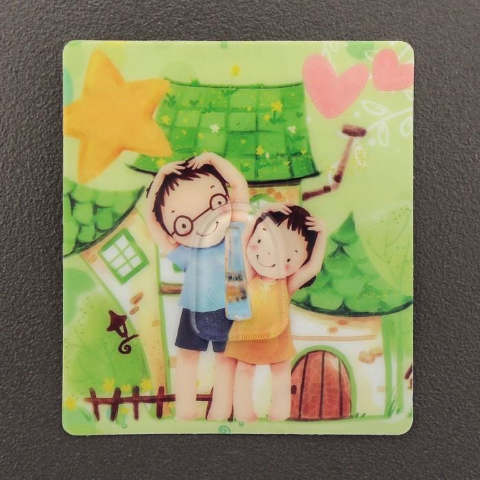 Крючок-наклейка «Семья», рисунок МИКС
