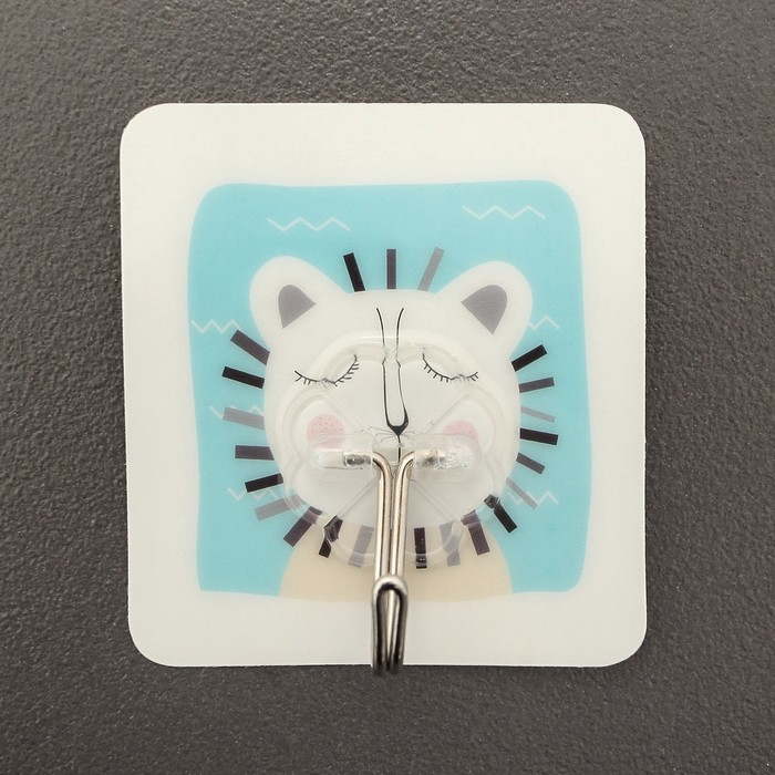 Крючок-наклейка «Животные», рисунок МИКС
