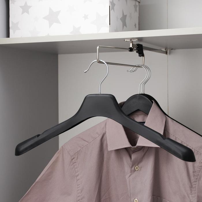Вешалка-плечики, размер 44-46, цвет чёрный