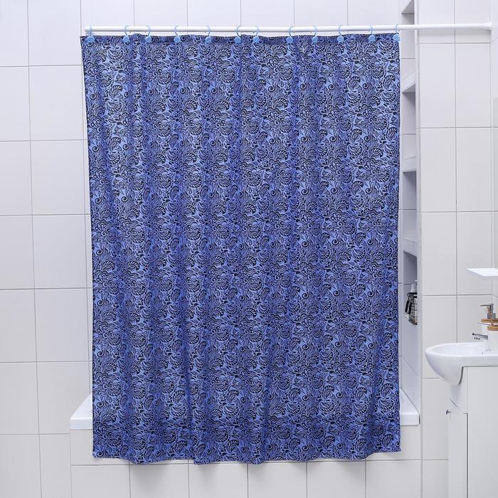 """Штора для ванной 180×180 см """"Бархат"""", полиэстер"""