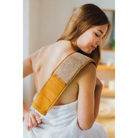 Мочалка-лента для тела длинная Доляна, 70×10 см, конопляное волокно