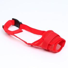 Намордник сетчатый с двойной фиксацией, размер M, красный