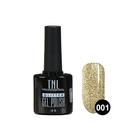 Гель-лак TNL Glitter №01, Серебристо-золотой, 10 мл