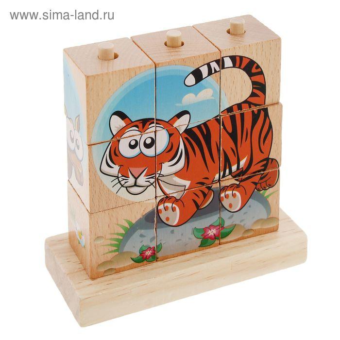 """Кубики малые на подставке """"Африканские животные"""""""