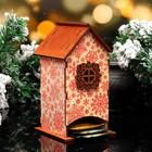 """Чайный домик """"Красные снежинки"""", 8,5х9х18см"""