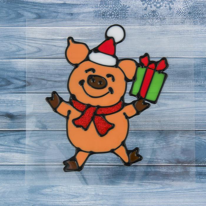 картинки на стекло к новому году свиньи своего карапуза
