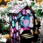 """Чайный домик """"С Новым Годом, новогодние шары"""" 9×9×16см"""