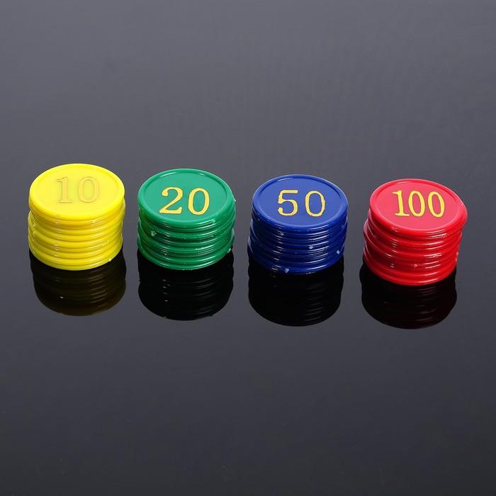 Набор фишек 40 шт, d=38 мм, толщина - 2 мм, в пакете  13*12см