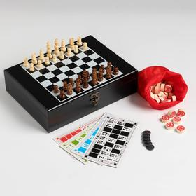 Набор шахмат с лото, бочонок 1,7 × 1, см, пешка 2см, ферзь 4,2 см