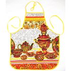 """Фартук вафельный """"Чайный сервиз"""", размер 65х55 см"""