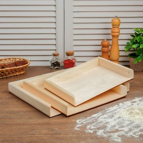 Набор досок для пельменей 3 шт (40 × 30 × 4 см; 30 × 30 × 4 см; 30 × 21 × 4 см)