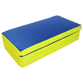 Мат 100 x 150 x 8 см, 2 сложения, oxford, цвет синий/жёлтый