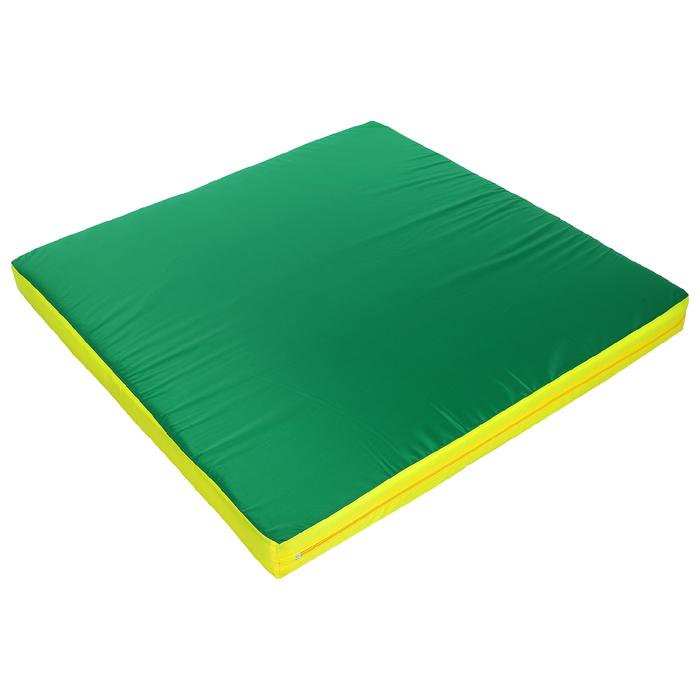 Мат 100 х 100 х 8 см, oxford, цвет зелёный/жёлтый/красный