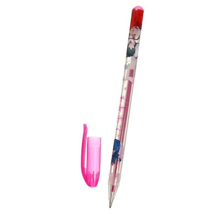Набор гелевых ручек, 18 цветов, металлик, корпус с рисунком, в блистере на кнопке - фото 373644360