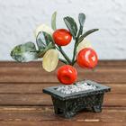 "Сувенир ""Дерево 3 мандарина и 3 монеты"" камень, 18 см"