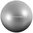 Мяч гимнастический d=75 см, 1000 гр, плотный, антивзрыв, цвет серый