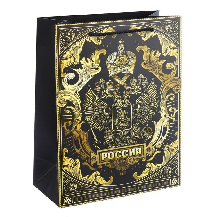 Пакет вертикальный «Герб России», 25 × 32 × 12 см