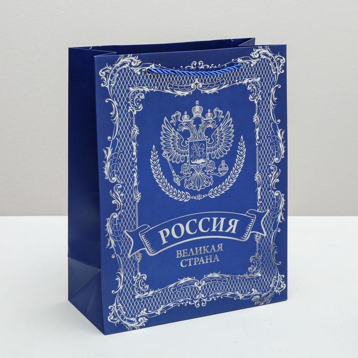 Пакет вертикальный «Россия ‒ Великая страна», 25 × 32 × 12 см