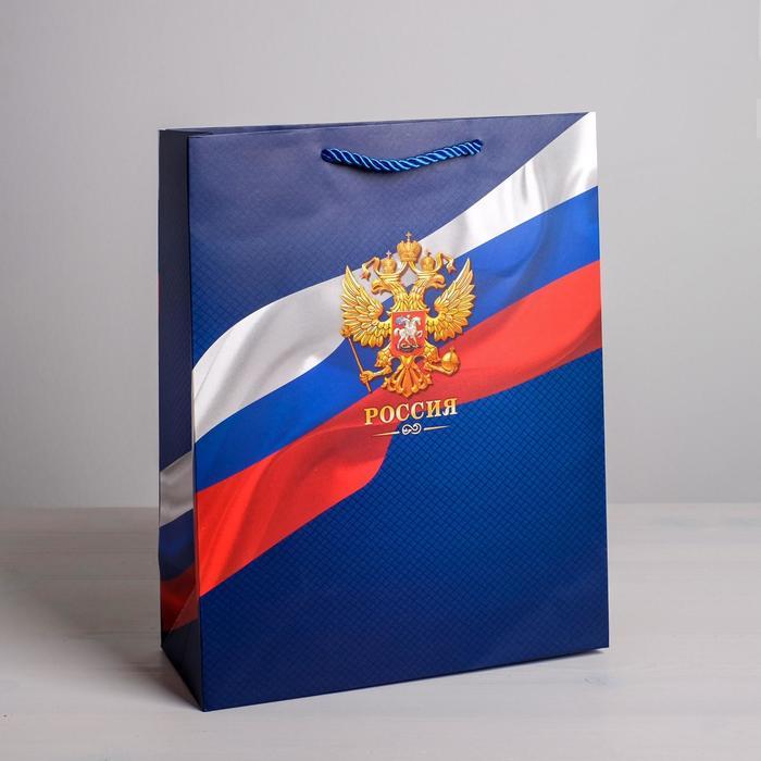 Пакет вертикальный «Россия», 25 × 32 × 12 см