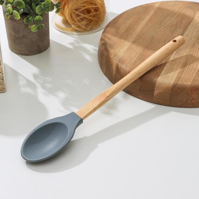 Ложка «Бамбук», 34 см, цвет МИКС - фото 308022288