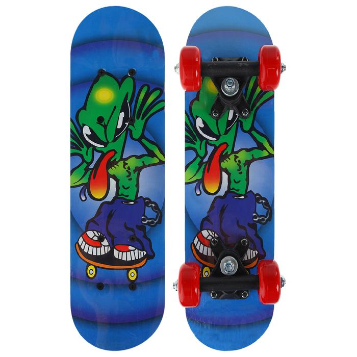 Скейтборд OT-1705В, размер 44x14 см, колёса PVC d=50 мм