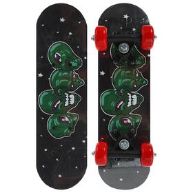 Скейтборд ОТ-1705В, размер 44x14 см, колёса PVC d=50 мм Ош