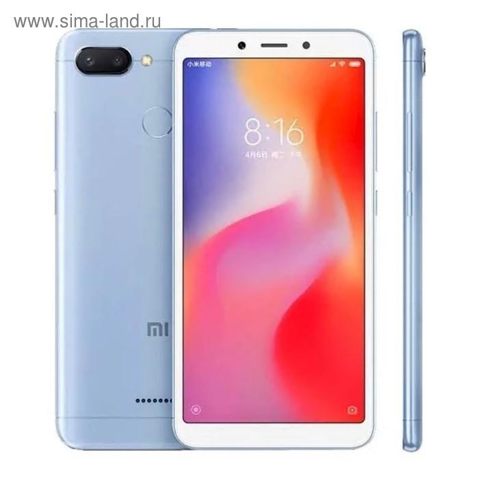 """Сотовый телефон XIAOMI Redmi 6 5,45"""", 1920*1080, 32Gb, 3GbRAM, 12+5+5Mp голубой"""