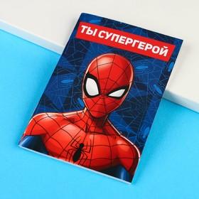 """Блокнот на скрепке MARVEL """"Человек-паук"""", 32 листа, А6"""