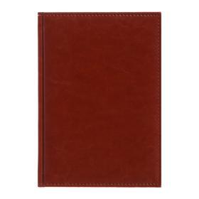 Ежедневник датированный 2020 г, А5, 168 листов «Небраска», перфорация углов, ляссе, коричневый Ош
