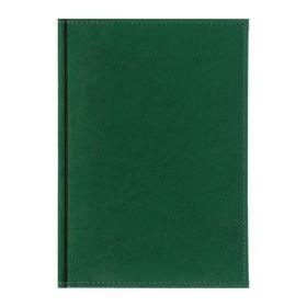 Ежедневник датированный 2020 г, А5, 168 листов «Небраска», искусственная кожа, перфорация углов, ляссе, зелёный Ош