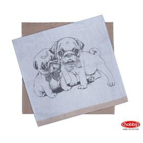 Набор полотенец Dogs, размер 50 × 70 см - 2 шт, светло-коричневый
