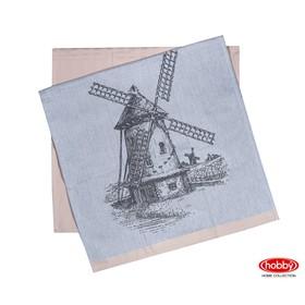 Набор полотенец Mill, размер 50 × 70 см - 2 шт, бежевый