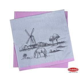 Набор полотенец Village, размер 50 × 70 см - 2 шт, розовый