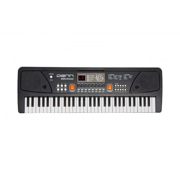 Синтезатор DENN DEK61mini, 16 тембров, полифония 4 тона, 61 клавиша