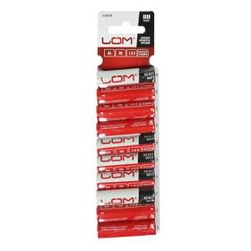 Батарейка солевая LOM, АА, R6, блистер, 10 шт