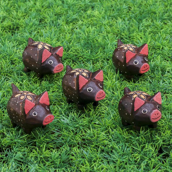 "Набор сувенирный ""Свинки розовые ушки"" 23х6х5 см"