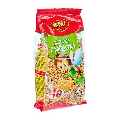 """ОГО! Сухой завтрак """"Пшеница с медом"""" 150 грамм (Шоу-бокс)"""