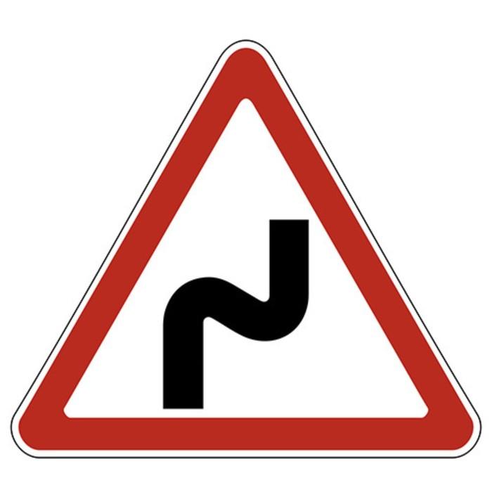 Знак дорожный 1.12.1 «Опасные повороты»