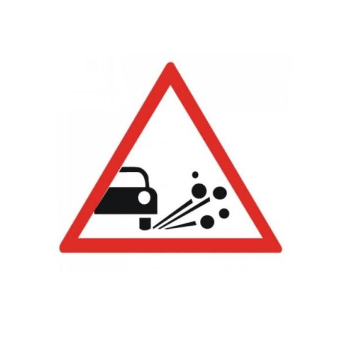 Знак дорожный 1.18 «Выброс гравия»