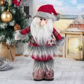 """Мягкая игрушка """"Дед Мороз - шубка в клетку"""" 14*30 см в Донецке"""