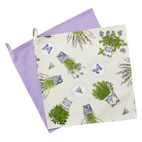 Набор полотенец «Лаванда», размер 40 × 70 см - 2 шт