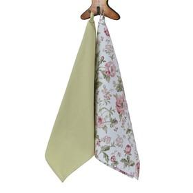 Набор полотенец English rose, размер 40 × 70 см - 2 шт, зелёный