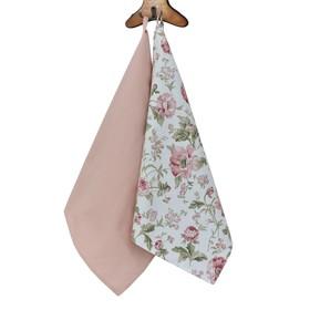 Набор полотенец English rose, размер 40 × 70 см - 2 шт, розовый
