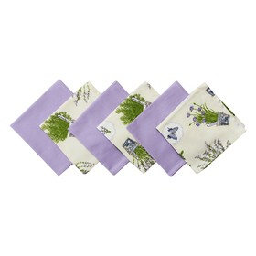 Набор салфеток «Лаванда», размер 33 × 33 см - 6 шт, мульти